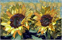 stained glass sunflowers