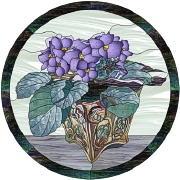 stained glass african violets