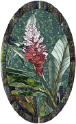 stained glass bromeliad