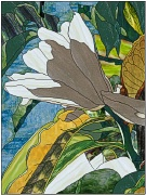 stained glass golden magnolia
