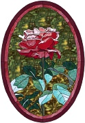 stained glass pink rose