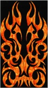 Stained Glass Cabinet Door Pattern Flaming Doors
