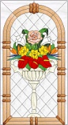 Stained Glass Cabinet Door Pattern Flower Bower