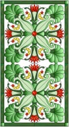 Stained Glass Cabinet Door Pattern Art Nouveau 2