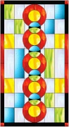 Stained Glass Cabinet Door Pattern Circles 'n Squares