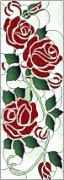 Stained Glass Cabinet Door Pattern Roses