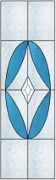 Stained Glass Cabinet Door Pattern Diamond