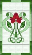 Stained Glass Cabinet Door Pattern Celtic Tulips