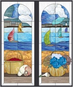 Stained Glass Cabinet Door Pattern Nantucket