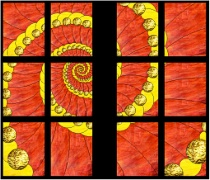 Stained Glass Cabinet Door Pattern Shell