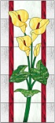 Stained Glass Cabinet Door Pattern Calla Lilies 2