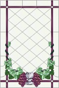 Stained Glass Cabinet Door Pattern Grapes