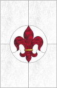 Stained Glass Cabinet Door Pattern Fleur de Lis