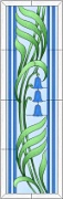 Stained Glass Cabinet Door Pattern Fronds & Bells