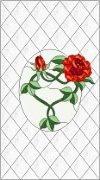 Stained Glass Cabinet Door Pattern Cottage Roses