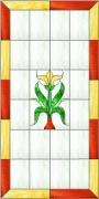 Stained Glass Cabinet Door Pattern Edwardian 2
