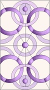 Stained Glass Cabinet Door Pattern Circles 2
