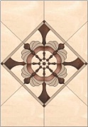 Stained Glass Cabinet Door Pattern Wheel In a Diamond