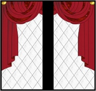 Stained Glass Cabinet Door Pattern Curtains Draped