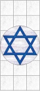 Stained Glass Cabinet Door Pattern Star of David
