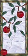 Stained Glass Cabinet Door Pattern Apple Tree