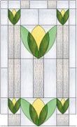 Stained Glass Cabinet Door Pattern Edwardian 5