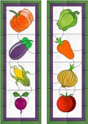 Stained Glass Cabinet Door Pattern Vegetable Harvest