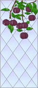 Stained Glass Cabinet Door Pattern Plum Trees