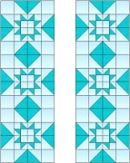 Stained Glass Cabinet Door Pattern Geometric Stars