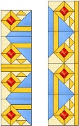 Stained Glass Cabinet Door Pattern Geometric Diamonds