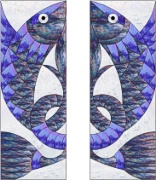 Stained Glass Cabinet Door Pattern Fish