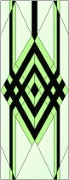 Stained Glass Cabinet Door Pattern Geometric Diamond