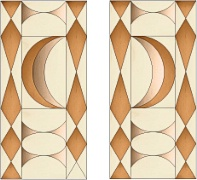 Stained Glass Cabinet Door Pattern Crescents