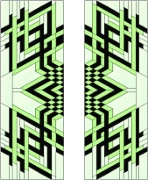Stained Glass Cabinet Door Pattern Modern Diamonds