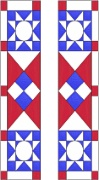Stained Glass Cabinet Door Pattern Circle & Star Quilt