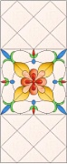 Stained Glass Cabinet Door Pattern Dutch Floral