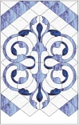 Stained Glass Cabinet Door Pattern Art Nouveau Curves