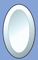 oval beveled glass