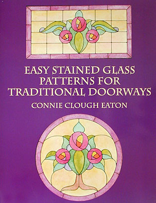 Easy Stained Glass Patterns for Traditional Doorways front cover