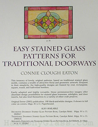 Easy Stained Glass Patterns for Traditional Doorways back cover