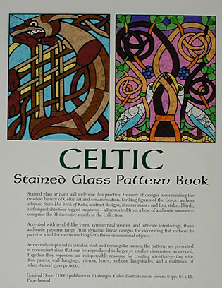 Celtic Stained Glass Pattern Book Back Cover